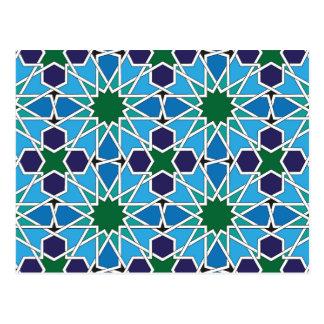 Cartão Postal Ben Yusuf Madrasa Patterrn geométrico 10
