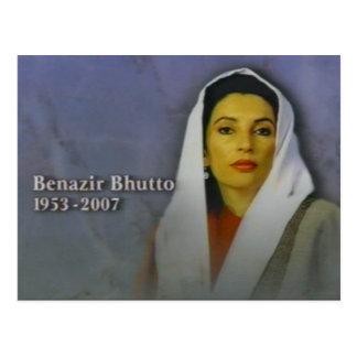 Cartão Postal Benazir Bhutto