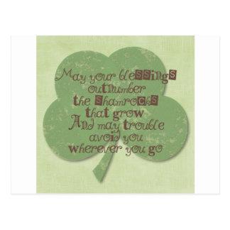 Cartão Postal Bênção do dia do St. Patricks