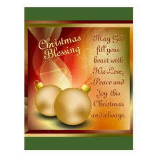 Cartão Postal Bênção do Natal, alegria da paz do amor