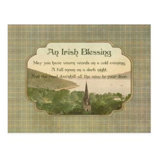 Cartão Postal Bênção irlandesa tradicional