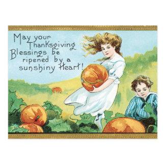Cartão Postal Bênçãos da acção de graças