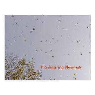 Cartão Postal Bênçãos do ouro da acção de graças
