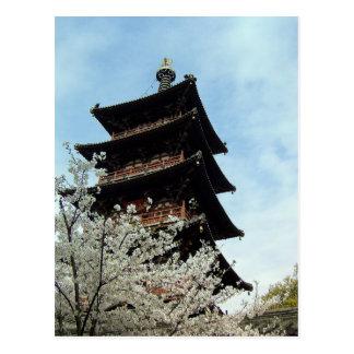 Cartão Postal Bênçãos do primavera/templo de Hanshan, Suzhou,
