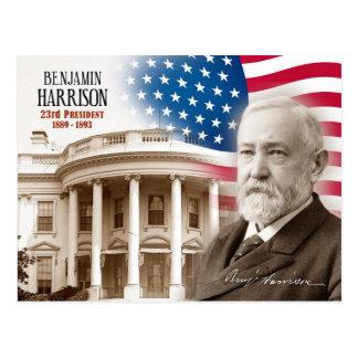 Cartão Postal Benjamin Harrison - 2ó presidente dos E.U.