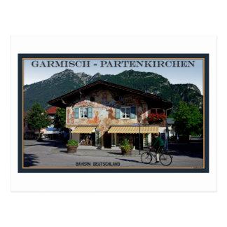 Cartão Postal Berchtesgaden - motociclista bávaro