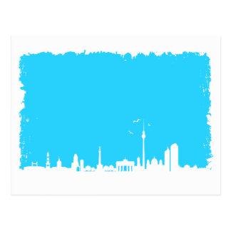 Cartão Postal Berlim Skyline cor azul