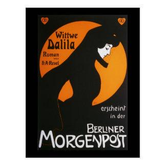 Cartão Postal Berlinês Morgenpost de Wittwe Dalila