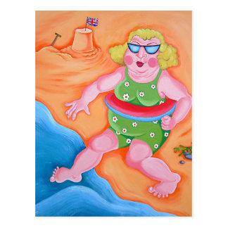 Cartão Postal Betty vai remar