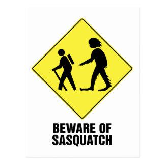Cartão Postal Beware de Sasquatch