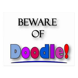 Cartão Postal Beware do Doodle