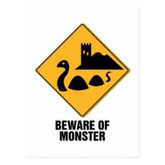 Cartão Postal Beware do monstro