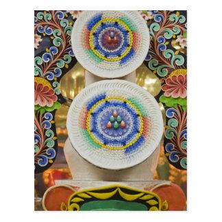 Cartão Postal Bhutan. Os bolos cerimoniais feitos por monges