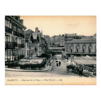 Cartão Postal Biarritz, France, Bulevar de la Página Vintage