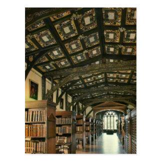 Cartão Postal Biblioteca de Bodlein, universidade de Oxford,
