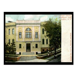 Cartão Postal Biblioteca de Carnegie, Yonkers, vintage 1906 de