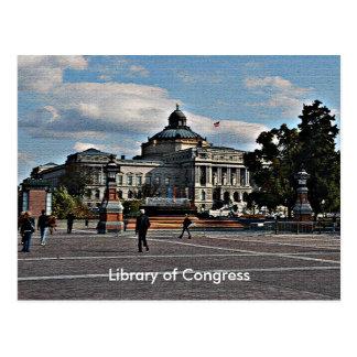 Cartão Postal Biblioteca do Congresso no teste padrão de mosaico