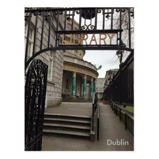 Cartão Postal Biblioteca nacional de Ireland, Dublin, Ireland