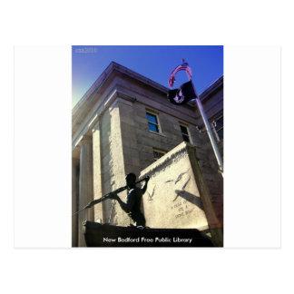 Cartão Postal Biblioteca pública livre de New Bedford