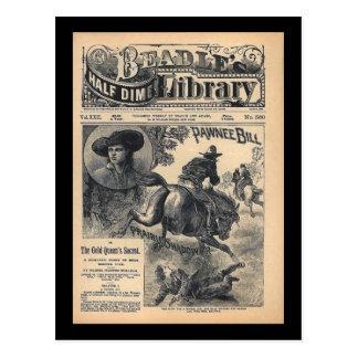 Cartão Postal Biblioteca Vol XXII da moeda de dez centavos dos
