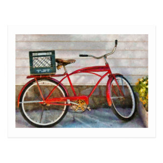 Cartão Postal Bicicleta - bicicleta da entrega