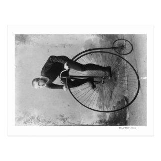 Cartão Postal Bicicleta com a grande fotografia da roda