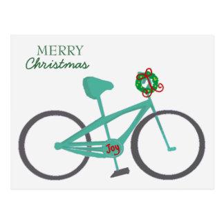 Cartão Postal Bicicleta com uma grinalda