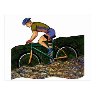 Cartão Postal Bicicleta da equitação do homem novo