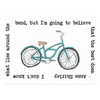 Cartão Postal Bicicleta de Anne Shirley- inspirada