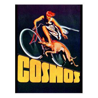 Cartão Postal Bicicleta do galgo do cosmos