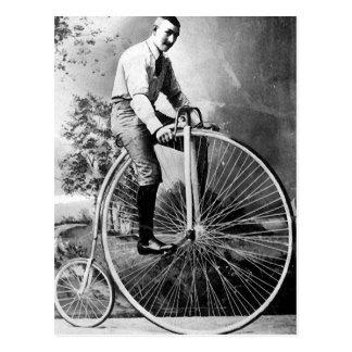 Cartão Postal Bicicleta do Victorian de Old Timey Pennyfarthing