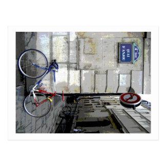Cartão Postal Bicicleta parisiense