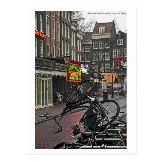 Cartão Postal Bicicleta quadrada de Amsterdão - de Rembrandt