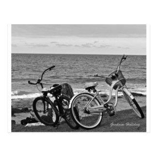 Cartão Postal Bicicletas pelo mar