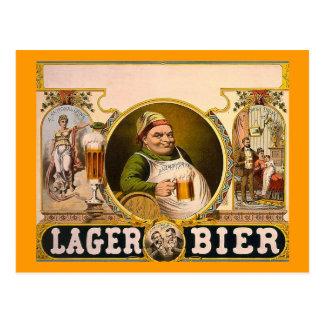 Cartão Postal Bier da cerveja pilsen - a bebida saudável!