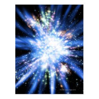 Cartão Postal Big Bang do espaço