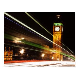 Cartão Postal Big Ben na noite