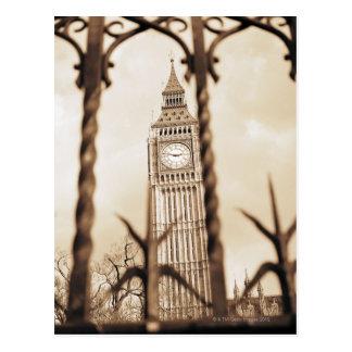 Cartão Postal Big Ben no parlamento, Londres