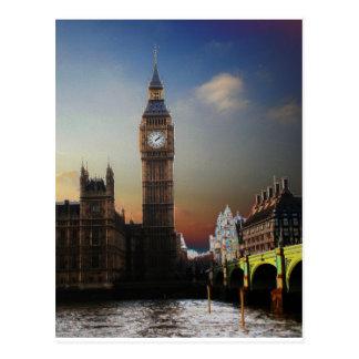 Cartão Postal Big Ben Solarised de Londres