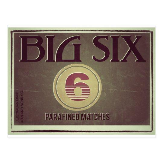 Cartão Postal Big Six Old Label