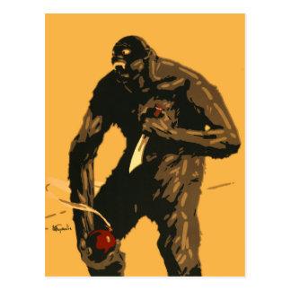 Cartão Postal Bigfoot irritado com faca e bomba!