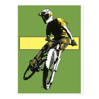 Cartão Postal Biker1 - Verde/amarelo