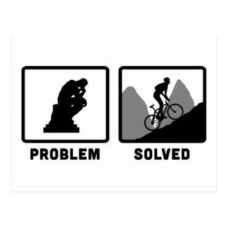 Cartão Postal Biking da montanha