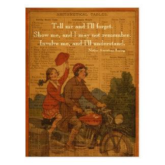 Cartão Postal Biking de volta à escola