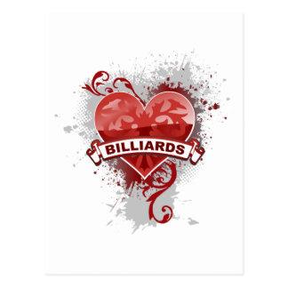 Cartão Postal Bilhar do coração