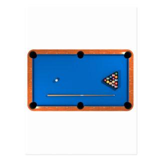 Cartão Postal Bilhar/mesa de bilhar: Azul sentido: