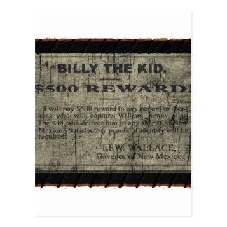 Cartão Postal Billy o miúdo quis o poster