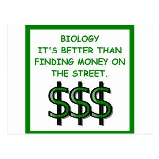 Cartão Postal biologia