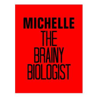 Cartão Postal Biólogo Brainy