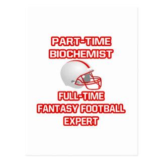 Cartão Postal Bioquímico. Perito do futebol da fantasia